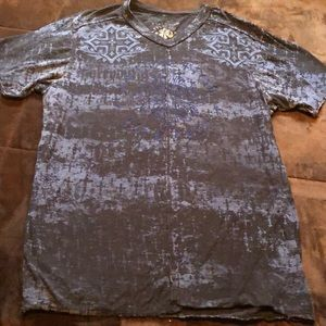 Affliction men's 3XL blue and black tee